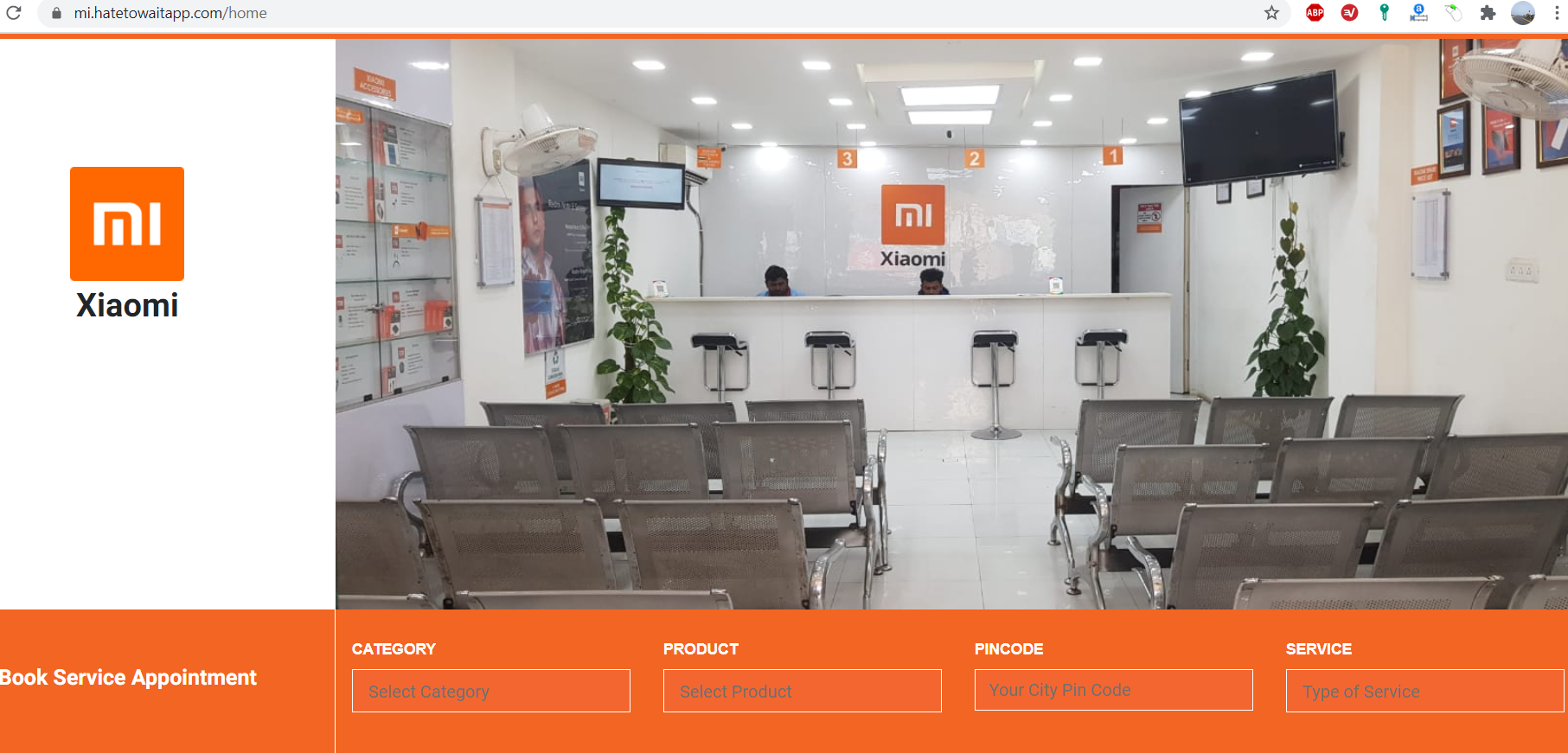 MI Service Appointment, Online Token Booking